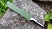 Выкидной нож-брелок зеленый