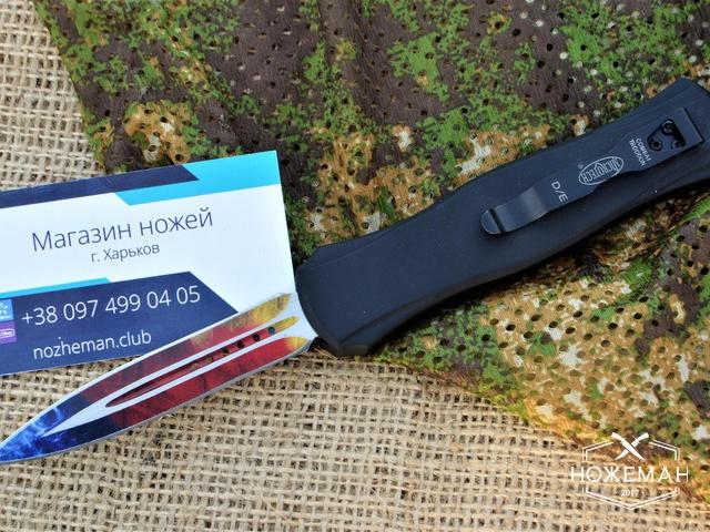 Фронтальный нож Microtech Combat Troodon Rainbow