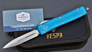 Фронтальный нож Vespa Ultratech D/E OTF Blue CC