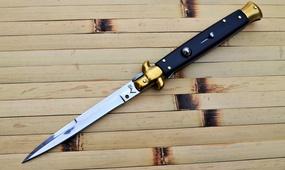 Итальянский стилет AKC Stiletto Dark Wood  100 мм