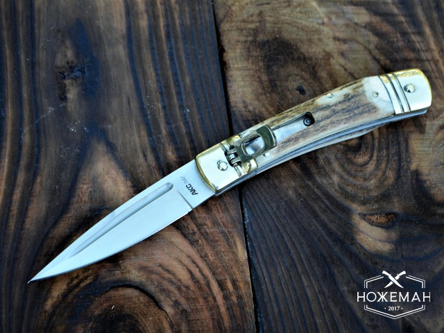 Итальянский выкидной нож AKC Slim Leverlock