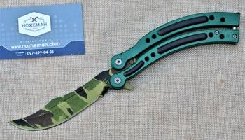 Нож бабочка CS GO Северный лес