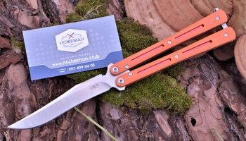 Нож бабочка ELB Mamba Orange Boom на подшипниках
