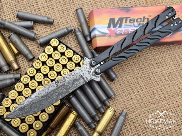 Нож бабочка MTech дамаск
