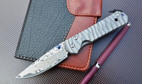 Нож Chris Reeve Sebenza Damask Wave Handle