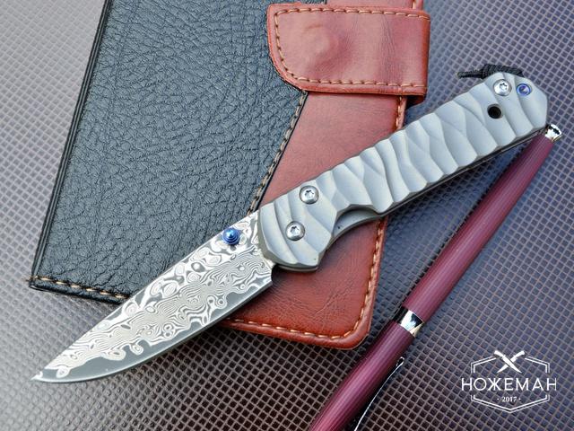 Нож Chris Reeve Small Sebenza Damask Wave Handle
