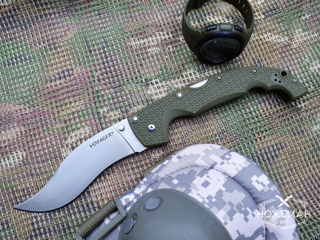 Нож Cold Steel Voyager XL green