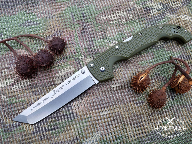Нож Cold Steel Voyager XL Tanto green