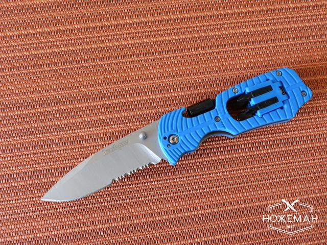 Нож Kershaw Select Fire blue serrated