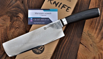 Нож кухонный Tigend для овощей (дамаск 67 слоев)
