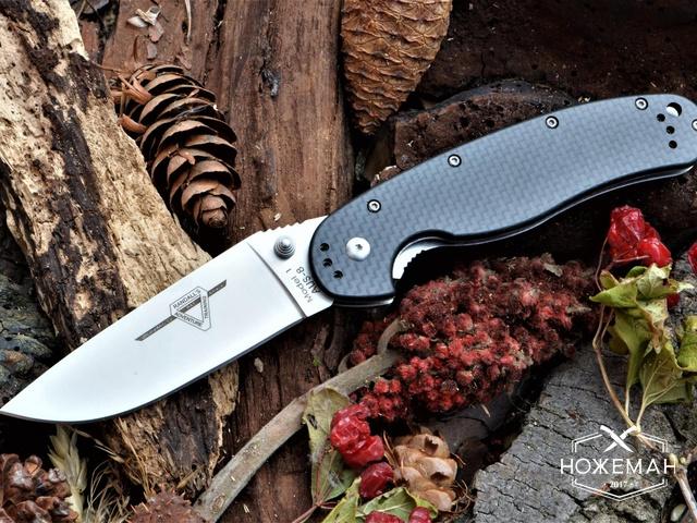 Нож крыса Ontario Rat 1 carbone fiber