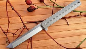 Нож Quartermaster Qwaiken XL Titanium Flipper