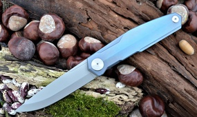 Нож Real Steel S3 Puukko Front Flipper sky purple 9522