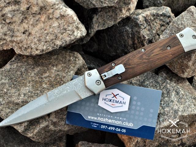 Нож стилет Dangerous дамаск (имитация)