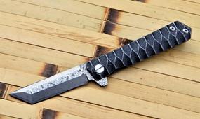 Нож танто из дамасской стали