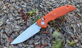 Нож Y-START JIN02 orange
