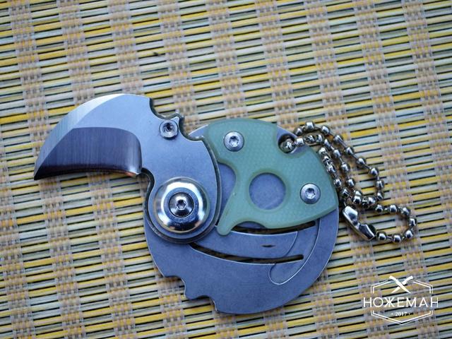 Перочинный нож-брелок Монета