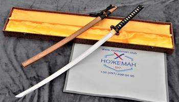 Самурайский меч из дамасской стали
