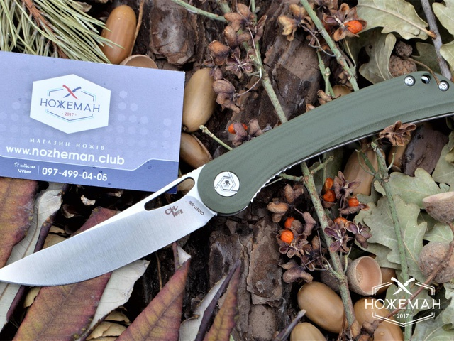 Складной нож CH Outdoor CH3517 G10 green