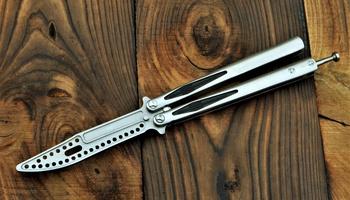Тренировочный нож бабочка Microtech Tachyon 3