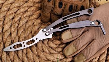 Тренировочный нож бабочка Spyderco Szabofly