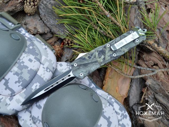 Выкидной нож Microtech Combat Troodon camouflage