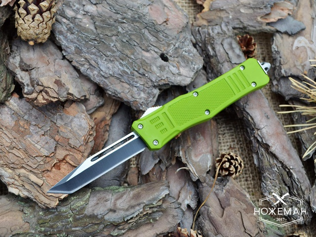 Выкидной нож Microtech Combat Troodon tanto green